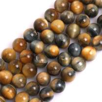 """GEM-Inside Natural 10mm Dream Lace Gold Blue Tiger Eye Gemstone Loose Beads AAA Grade Crystal Energy Stone Power Beads for Jewelry Making 15"""""""