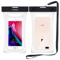 RANVOO [Floating] Waterproof Phone Pouch, Dry Bag Case for iPhone SE New 2020, iPhone 8 Plus 7 Plus 11 Pro Max X Series, Samsung Galaxy S9 Plus S8 Edge Note 8 7, LG G5 G6, up to 6.8 inch - Clear