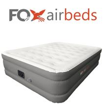 Best Inflatable Bed by Fox Airbeds - Plush High Rise Air Mattress in King, Queen, Full and Twin (Full)
