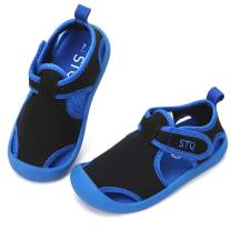 STQ Boys Girls Water Shoes Quick-Dry Slip on Beach Swim Pool Sandals(Toddler/Little Kid)