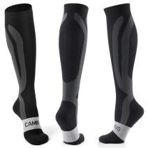 CAMBIVO 3 Pairs Compression Socks for Women and Men, 20-30mmHg Sports Compression Stockings for Running