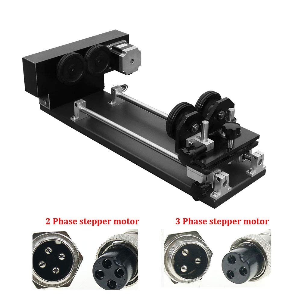 CNC Wheel Router Rotary Axis Attachment for CO2 Laser Rotate Engraving Cutting Machine 2/3 Phase Stepper Motor (Wheel Rotation-2Phase)