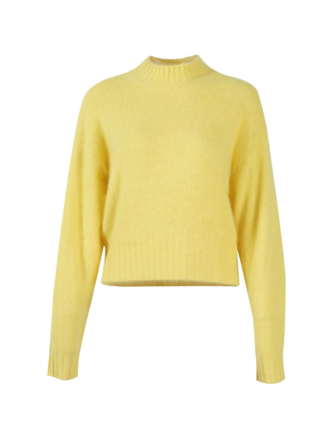 Peplum Pointe Women's Turtleneck Cozy Long Sleeve Casual Sweater Knit Super Soft Pullover