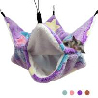 Oncpcare Small Pet Cage Hammock, Bunkbed Sugar Glider Hammock, Guinea Pig Cage Accessories Bedding, Warm Hammock for Parrot Ferret Squirrel Hamster Rat Playing Sleeping