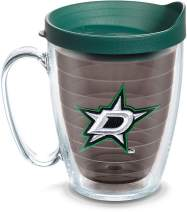 Tervis 1124905 NHL Dallas Stars Primary Logo Tumbler with Emblem and Hunter Green Lid 16oz Mug, Quartz