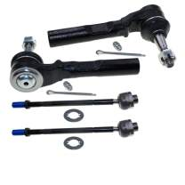 DLZ 4 Pcs Front Suspension Kit-2 Inner 2 Outer Tie Rod End Compatible with Chevrolet Silverado GMC Sierra 1500 2WD 1999-2006,Silverado GMC Sierra 1500 Classic 2007 EV370 ES3492T for Rack Steering only