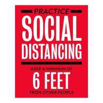 """Social Distancing Decal Style 5 (5"""" x 7"""" - 2 Pack)"""