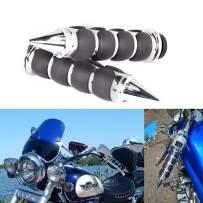 "DREAMIZER Motorcycle 1"" Handlebars Hand Grips 25mm for Honda Valkyrie Shadow Spirit VT400 VT750 VT1100 VTX1300 VTX1800 STEED VLX 400 600 Magna VF250 750 - Pointed,Chrome"