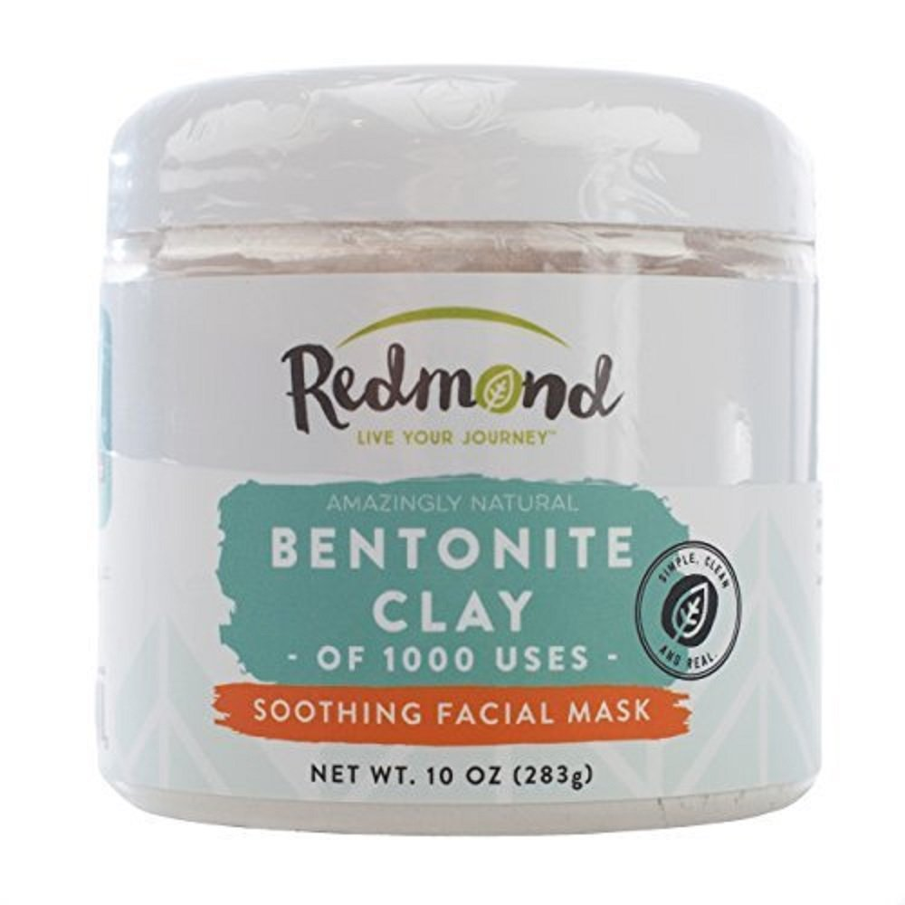 Redmond Clay - Bentonite Clay of 1000 Uses, Soothing Facial Mask, 10 Ounce (2 Pack)