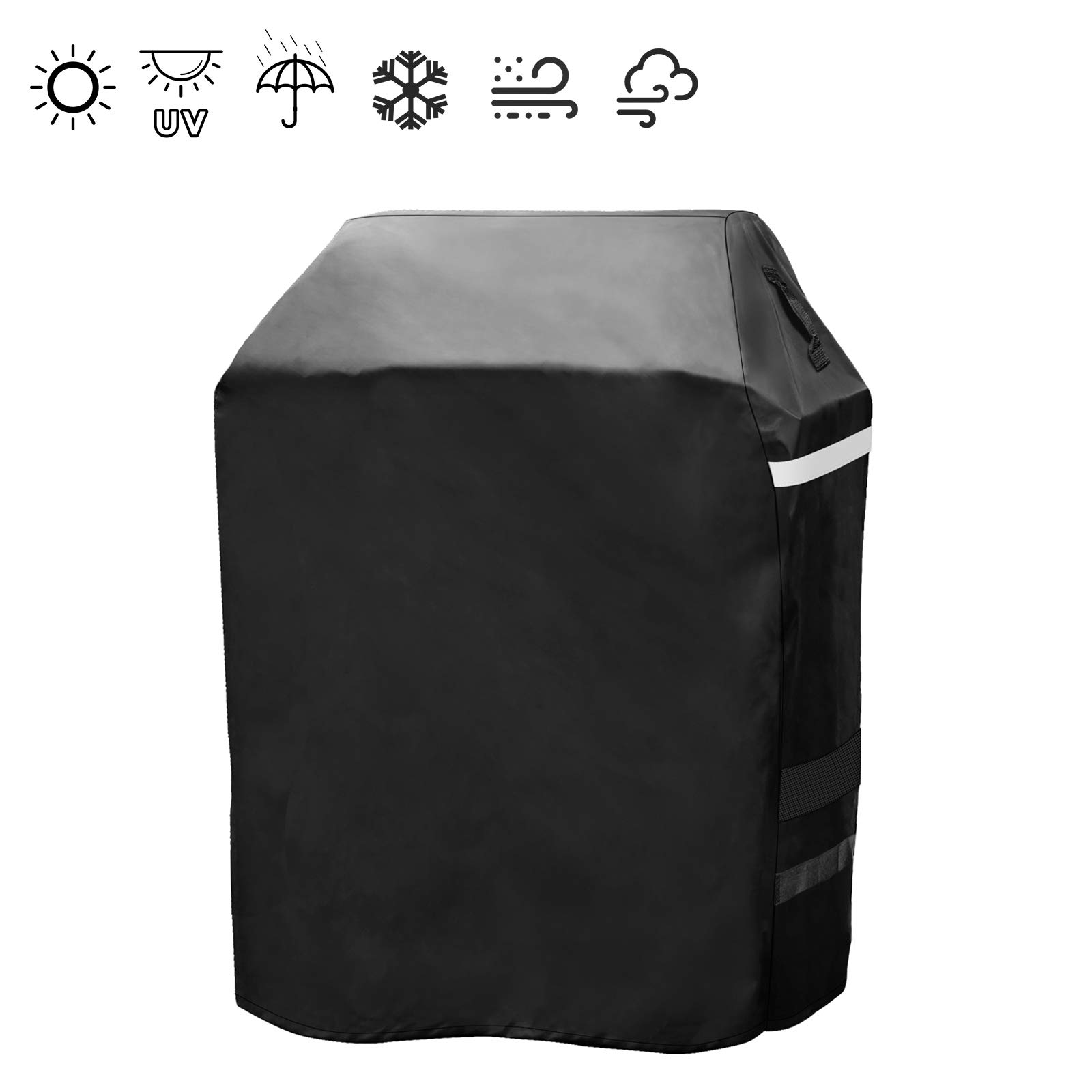 Hisencn 29 Inch Grill Cover for Dyna Glo DG300C Premium 2 to 3 Burner Gas Grill, Heavy Duty Waterproof Small Space LP Grill BBQ Cover for Dyna Glo DGP350SNP-D, DGB390SNP-D, All Weather Protection