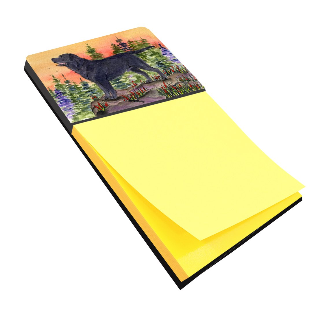 Caroline's Treasures SS8624SN Labrador Refiillable Sticky Note Holder or Postit Note Dispenser, Large, Multicolor