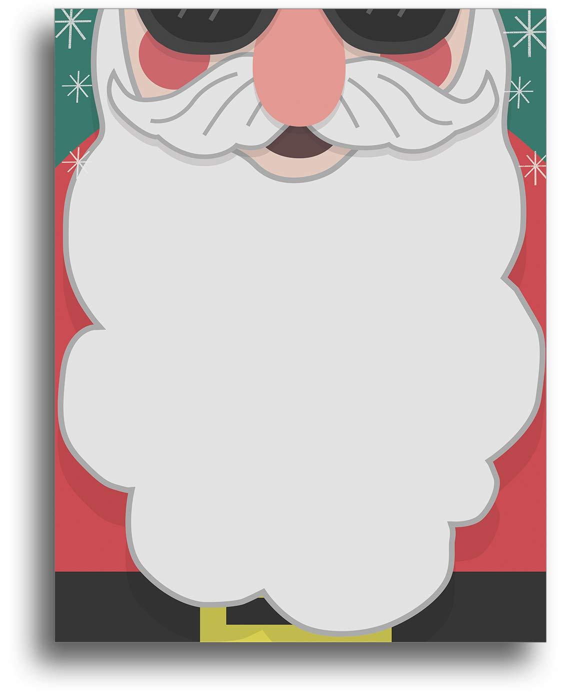 Cool Santa Beard Holiday Stationery Paper - 80 Sheets