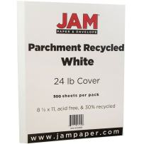 JAM PAPER Parchment 24lb Paper - 8.5 x 11 - White Recycled - 500 Sheets/Ream