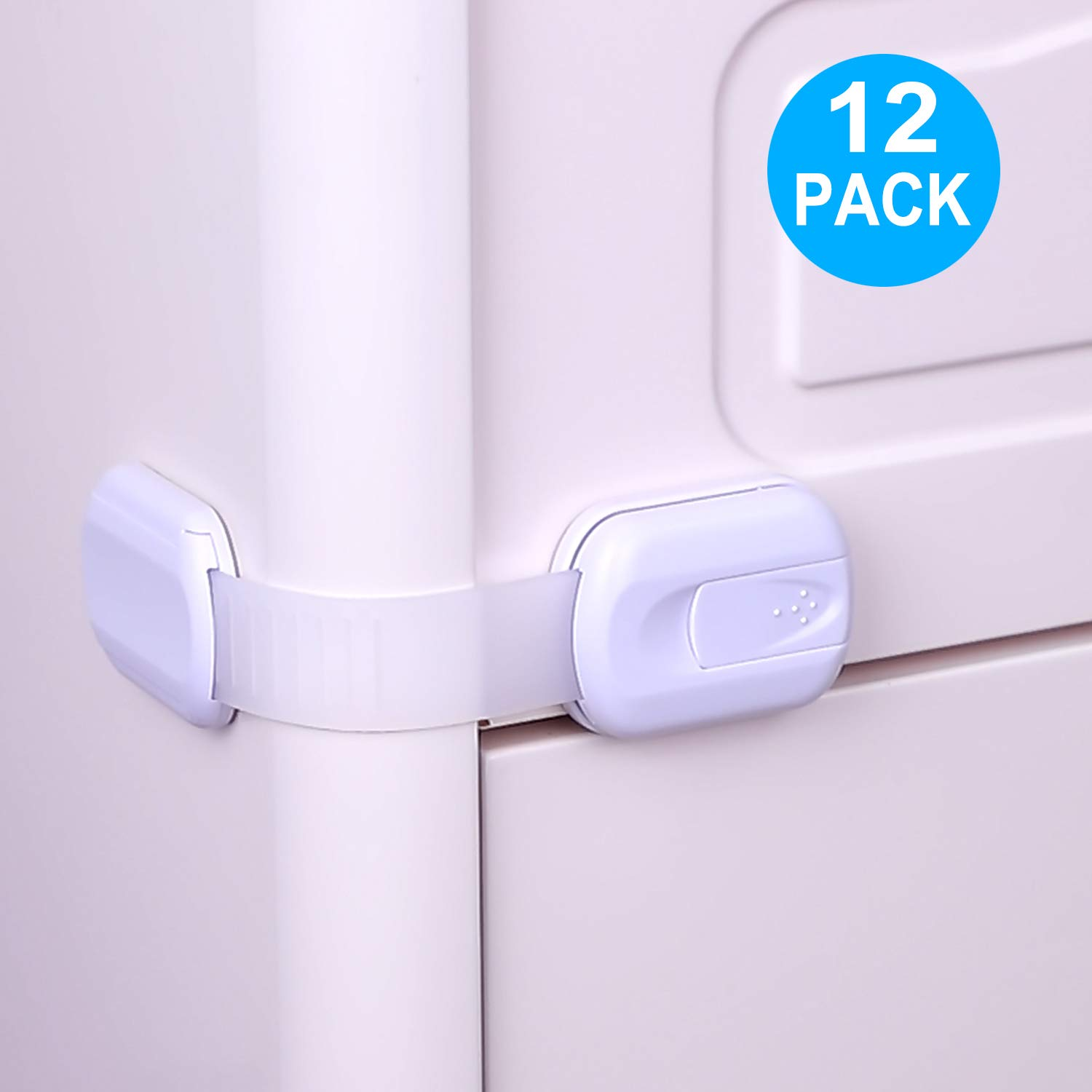 TUSUNNY Child Safety Cabinet Locks,No Tools or Drill Baby Proofing Strap Locks with Strong 3M Adhesive,Multi-Purpose Locks for Drawers, Cabinets, Oven, Toilet, Fridge, Door, Window, Cupboard