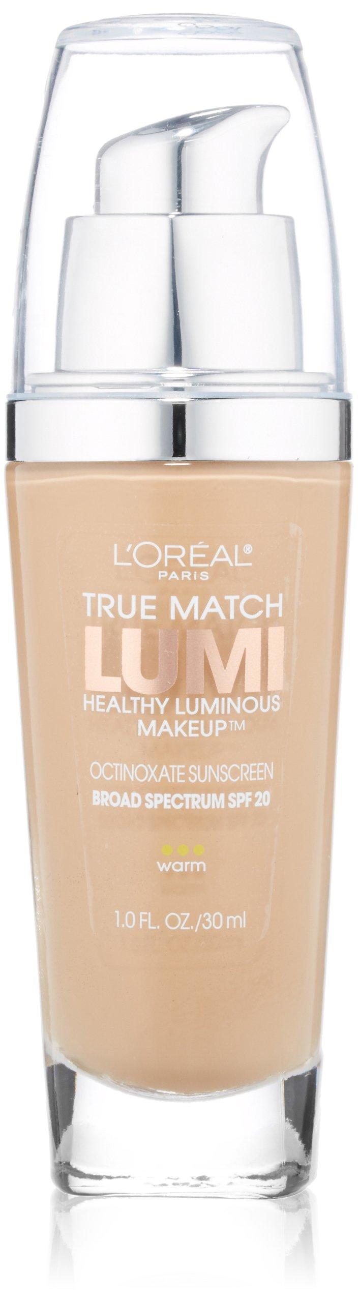 L'Oreal Paris True Match Lumi Healthy Luminous Makeup, W4 Natural Beige, 1 fl. oz.