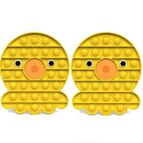 2 Pack Push Pop Pop Bubble Fidget Toy - Stress Reliever Extrusion Push Bubble Press Sensory Toy for Autism, OCD, Special Needs, Anxiety Help Restore Emotions (Octopus Yellow)