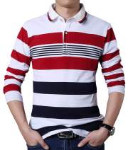 FRTCV Mens Polo Shirt Casual Slim Fit Polo T Shirts Golf Shirt