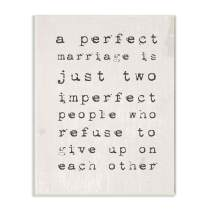 Stupell Industries A Perfect Marriage Wall Plaque, 10 x 15, Design by Artist Daphne Polselli