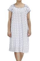EZI Women's Nightgowns12 Cap Sleeve Cotton Nightgown
