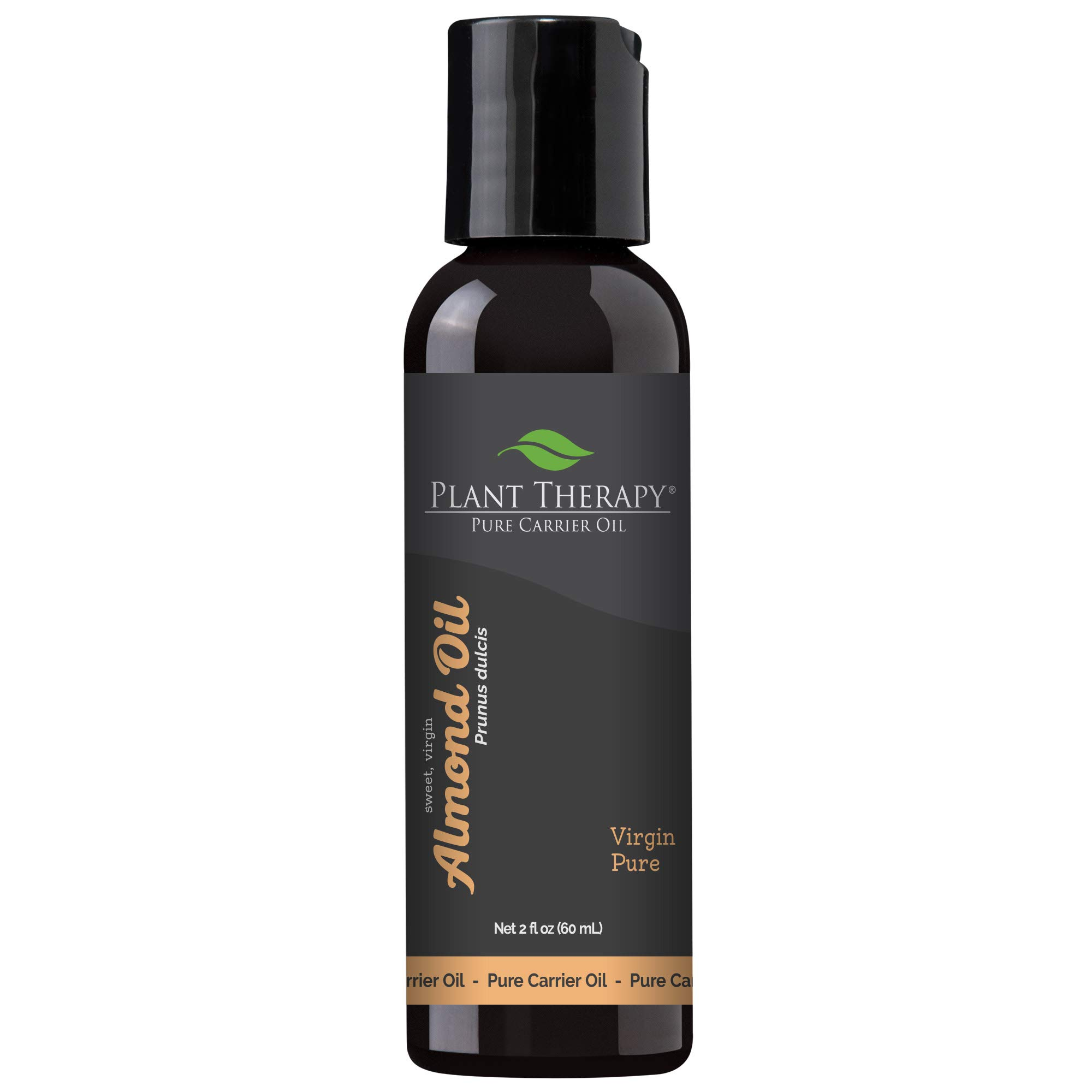 Plant Therapy Sweet Almond Oil - Almond Oil for Hair, Skin, Face, Body & Baby - Aromatherapy Carrier Oil, Natural Moisturizer & Massage 100% Pure, Cold Pressed California Almonds, Made in USA, 2 oz