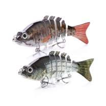VTAVTA Bass Fishing Lures Swim Bait for Bass, Striper Fish Gears Kits