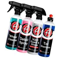 Adam's Most Popular Car Detailing Kit - Car Wash & Cleaning Kit   Our Top Selling Products Bundled   Car Wash Soap Shampoo, Detail Spray Car Wax Quick Detailer, Wheel Cleaner Paint Sealant Top Coat