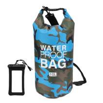 Loovit Waterproof Dry Bag 2L/5L/10L/15L/20L/30L, Roll Top Sack Keeps Gear Dry for Kayaking, Rafting, Boating, Swimming, Camping, Hiking, Beach, Fishing with Free Waterproof Phone Case