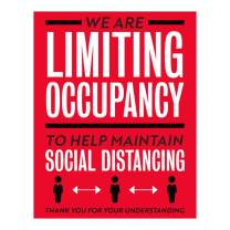 """ExcelMark We are Limiting Occupancy Decal Maintain Social Distancing (7.5"""" x 10"""")"""