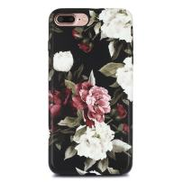 iPhone 7 Plus Case for Girls/iPhone 8 Plus Floral Case,GOLINK Floral Series Matte Finish Slim-Fit Anti-Scratch Shock Proof Anti-Finger Print Flexible TPU Gel Case for iPhone 7/8 Plus - White red Rose