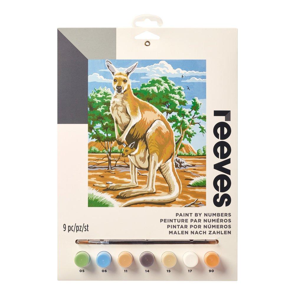 """Reeves Paint by Numbers 9"""" x 12"""" , Kangaroo"""