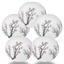 Quasimoon PaperLanternStore.com (5-Pack) Cherry Blossom/Sakura Paper Lantern