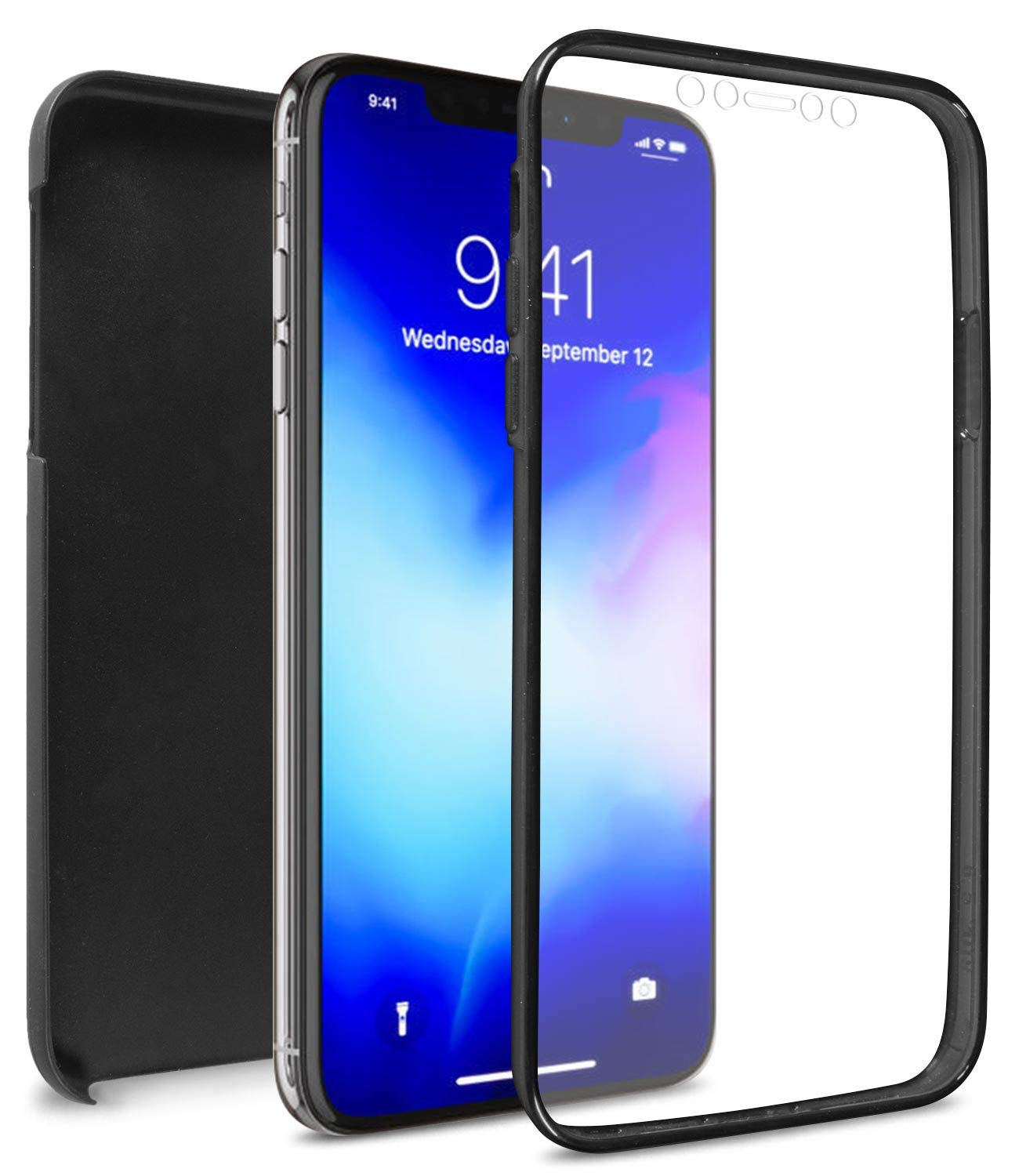 CoverON Full Body WrapGuard Series for iPhone 11 Case with Screen Protector, Matte Black