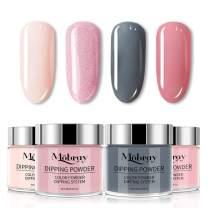 Mobray Dipping Powder Set for Nail Art 30g, 4 Colors Dip Powder System Starter Kit for French Nail Manicure Nail Art No UV/LED Nail Lamp Needed (Set4)