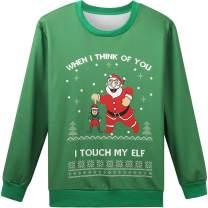 Hsctek Ugly Christmas Sweater Sweatshirt for Men Women