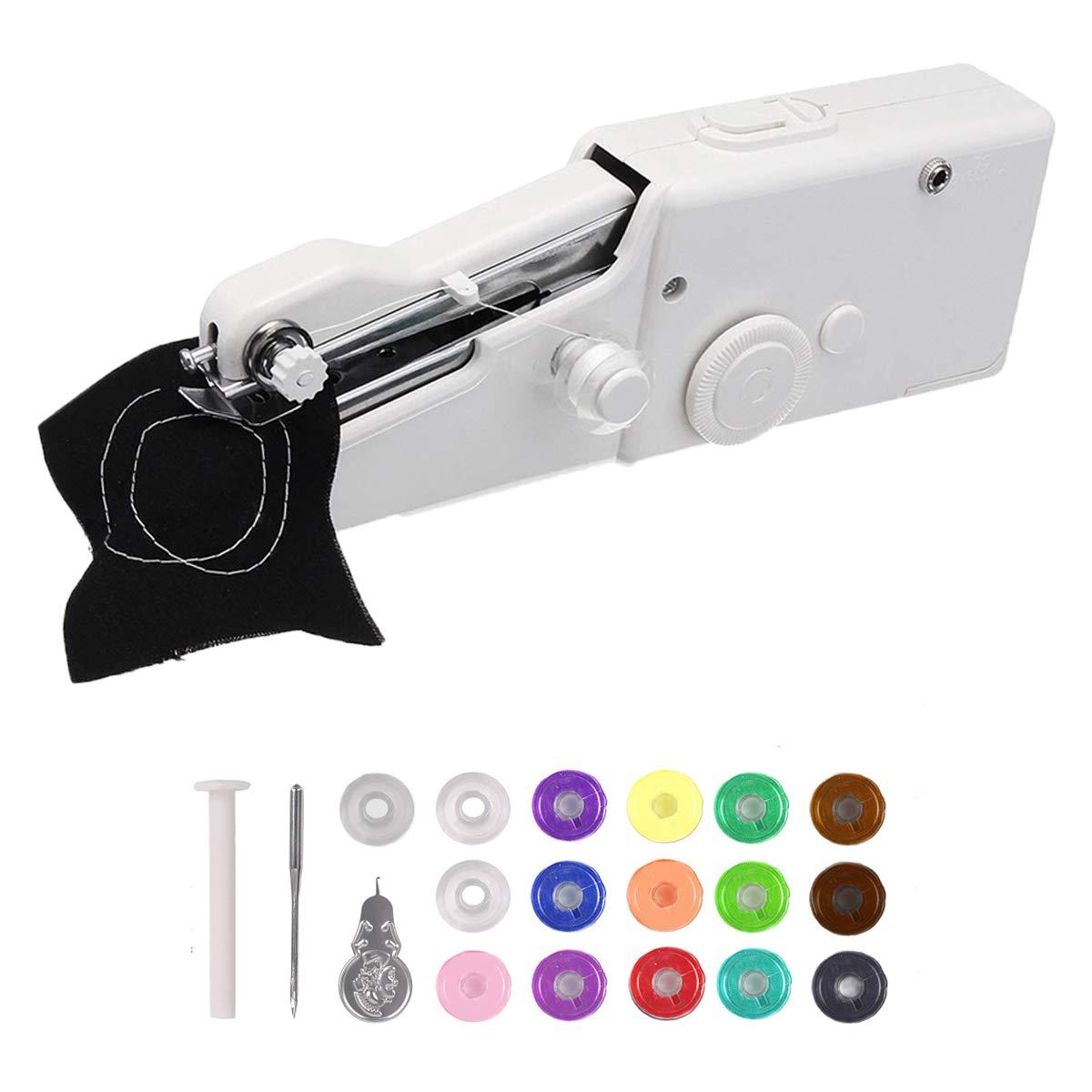 Handheld Sewing Machine,Portable Sewing Machine, MSDADA Mini Sewing Machine for Quick Repairs,Home Stitching,DIY, Birthday,Children's Day Gift for Kids with 16Pcs Bobbins