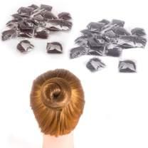 20 Pcs Hair Nets for Women Bun,Invisible Hair Nets Elastic Edge Mesh (10pcs Black + 10pcs Coffee)
