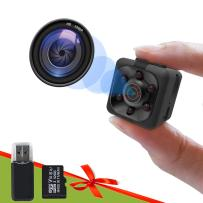 Smart Spy Camera 1080P Included 32GB SD Card, Gortheous Full HD Hidden Camera, Mini Nanny Cam with Night Vision Motion Detection for Indoor Outdoor Covert Security Cameras