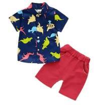 BABICOLOR Cute Outfits Toddler Infant Boy Summer Clothes Suit Kids Cartoon T-Shirt + Shorts 2pcs Casual Tracksuit