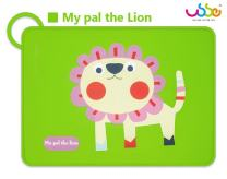 BIOSOMA Baby. Silicone Placemats, Nice 'n Cute Designs, Kids & Toddler Placemats, Safe 100% Food-Grade Silicone, Non-Slip Silicone & Easy to Roll and Loop It! with Anti-Spill Edge. Lion