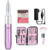 Nail Drill for Acrylic Nail 30000rpm - Portable Ejiubas Electric Nail File Drills Nail Drill Machine Nail Grinder Polisher for Gel Nails Manicure Pedicure