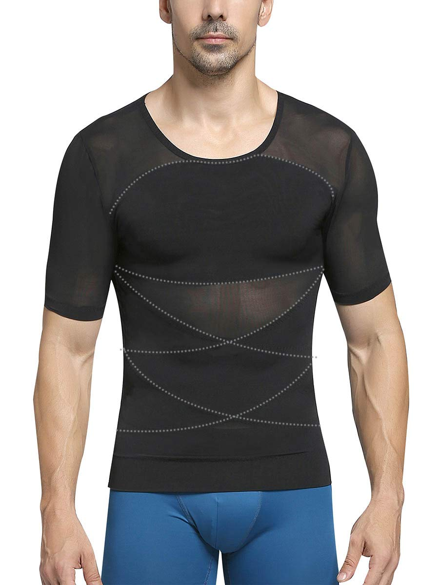 MASS21 Mens Tummy Control Shapewear Gynecomastia Compression Shirts Faja Hombre