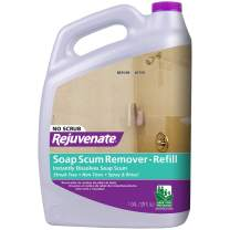 Rejuvenate Scrub Free Soap Scum Remover Non-Toxic Non-Abrasive Cleaning Formula - Spray and Rinse for Streak Free Finish on Glass, Ceramic Tile, Chrome, Plastic and More