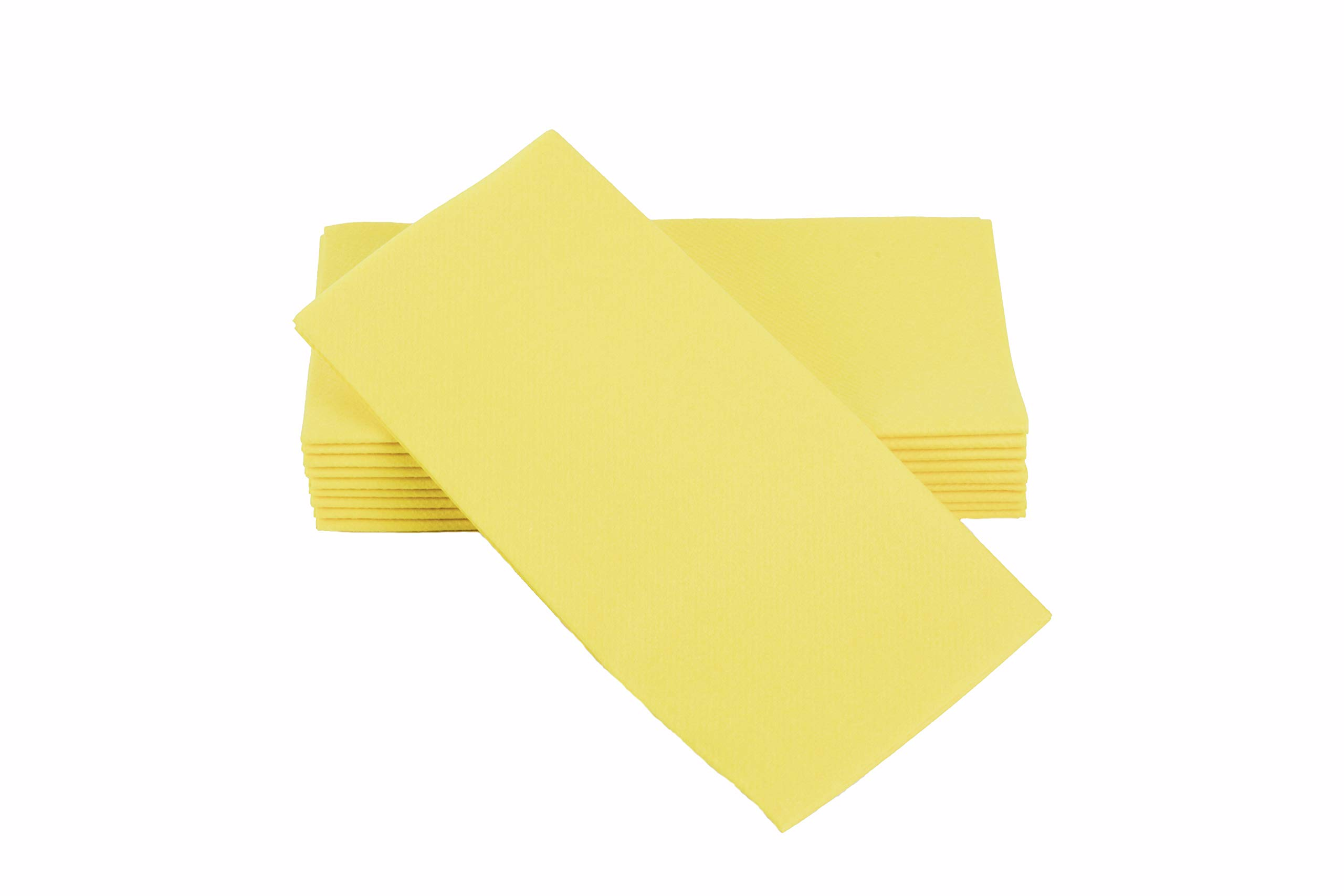 """Simulinen Colored Napkins - Decorative Cloth Like & Disposable, Dinner Napkins - Yellow, Soft, Absorbent & Durable - 16""""x16"""" - Great for Any Occasion! - Box of 50"""