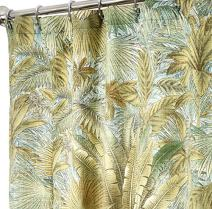 Decorative Things Extra Long Shower Curtains Tommy Bahama Fabric Green Bahamian Breeze 84 Inches