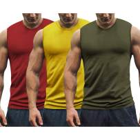 COOFANDY Men's 3 Pack Workout Tank Tops Gym Muscle Tee Bodybuilding Fitness Sleeveless T Shirts