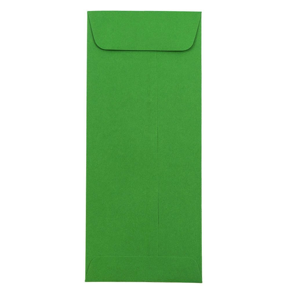 JAM PAPER #10 Policy Business Colored Envelopes - 4 1/8 x 9 1/2 - Green Recycled - 25/Pack
