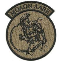 Molon Labe Rocker Patch - Coyote Tan