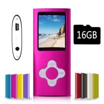 G.G.Martinsen Pink Versatile MP3/MP4 Player with a Micro SD Card, Support Photo Viewer, Mini USB Port 1.8 LCD, Digital MP3 Player, MP4 Player, Video/Media/Music Player