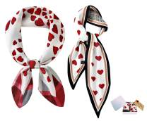 GERINLY Scarfs for Valentine's Gift for Her with Exquisite Box Greeting Card Packaging Women Love Heart Wraps