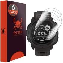 Skinomi Screen Protector Compatible with Garmin Instinct (6-Pack) Clear TechSkin TPU Anti-Bubble HD Film